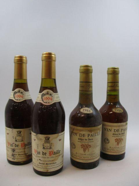 4 demi-bts 2 demi-bts : VIN DE PAILLE 1994 Côtes du Jura. X. Reverchon