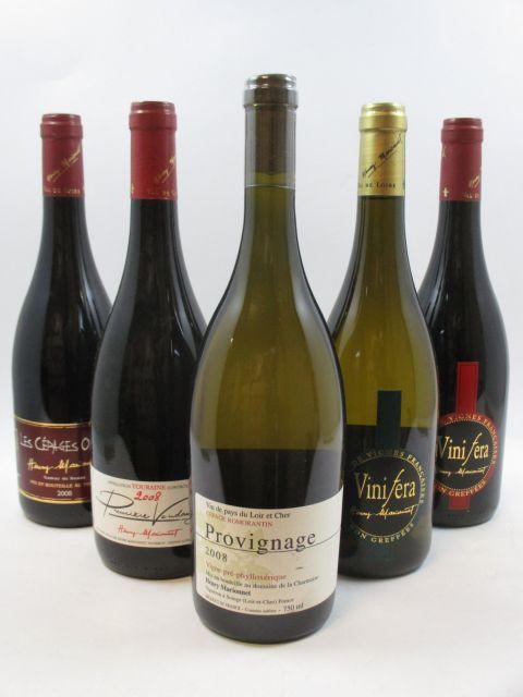 12 bouteilles 3 bts : TOURAINE 2008 Gamay 1ère Vendange. Domaine de la Charmoise. Henry Marionnet