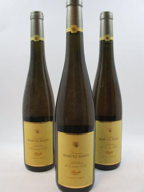 3 bouteilles ALSACE PINOT GRIS 1998 SGN