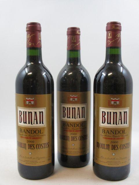 12 bouteilles BANDOL 2000 Moulin des Costes