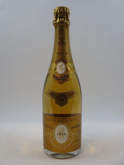 1 bouteille CHAMPAGNE CRISTAL ROEDERER 1988  (cave 12)
