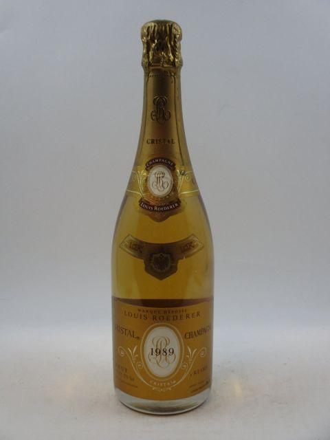 1 bouteille CHAMPAGNE CRISTAL ROEDERER 1989 (cave 12)