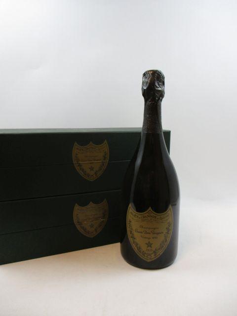 2 bouteilles CHAMPAGNE DOM PERIGNON 1995 Brut Etui d'origine (cave 12)