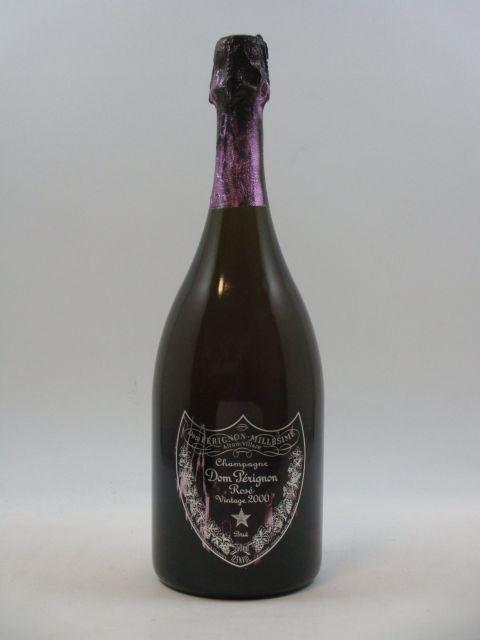 1 bouteille  CHAMPAGNE DOM PERIGNON 2000 Rosé (étiquette griffée)   (cave 14)