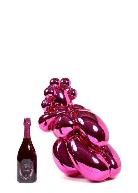 1 sculpture+bouteille BALLOON VENUS JEFF KOONS POUR DOM PERIGNON ROSE 2003 Jeff KOONS Né en 1955 - Sculpture en polyuréthane résine han