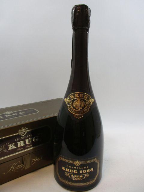 1 bouteille CHAMPAGNE KRUG 1988 Brut Etui d'origine (cave 12)