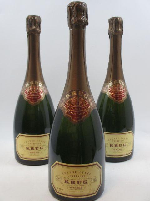 3 bouteilles CHAMPAGNE KRUG Grande Cuvée