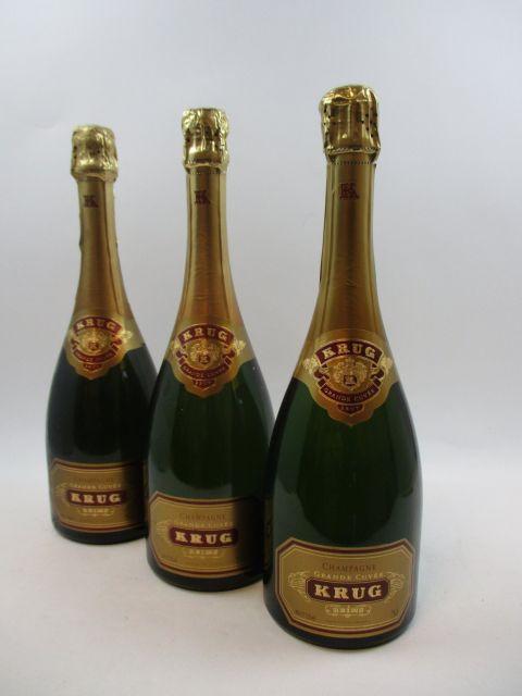 3 bouteilles CHAMPAGNE KRUG Grande Cuvée (cave 12)