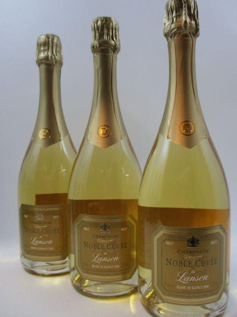 3 bouteilles CHAMPAGNE LANSON 2000