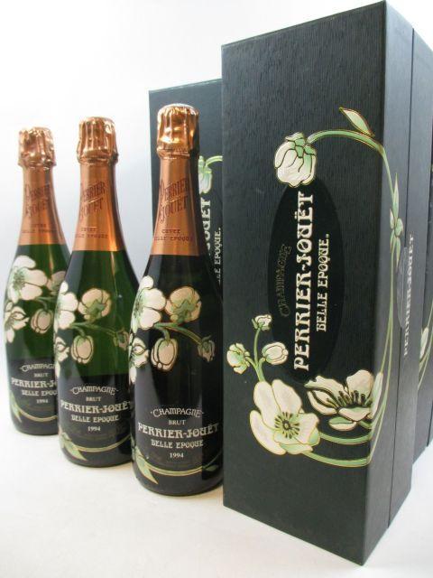6 bouteilles CHAMPAGNE PERRIER JOUET 1994 Cuvée Belle Epoque Etuis d'origine (cave 12)