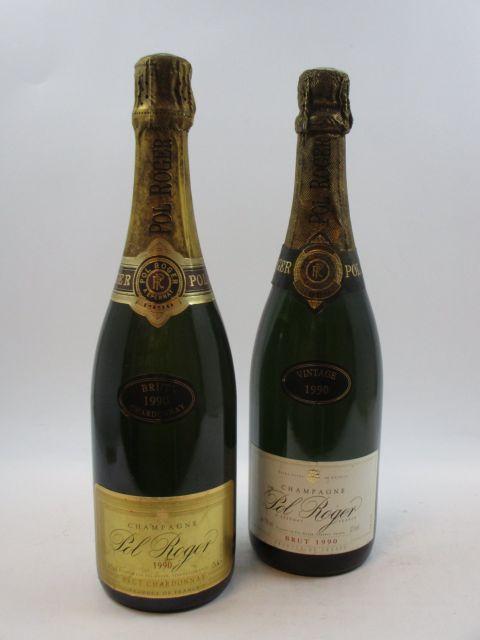 2 bouteilles CHAMPAGNE POL ROGER 1990 Brut  (cave 12)