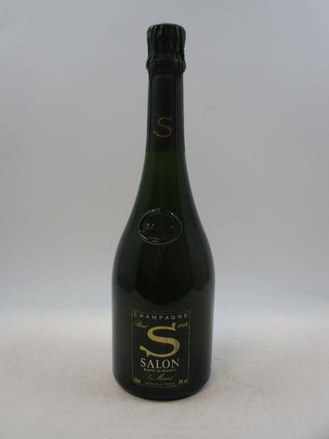 1 bouteille  CHAMPAGNE SALON 1988 S de Salon. Le Mesnil. Blanc de Blancs Etui d'origine  (cave 12)