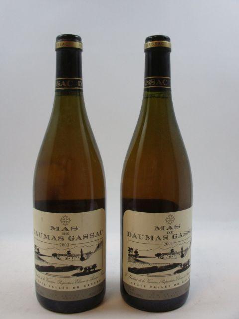 6 bouteilles MAS DE DAUMAS GASSAC 2003 IGP Pays de l'Hérault (blanc) (cave 1)