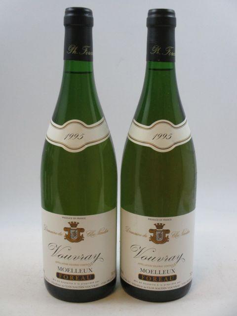 8 bouteilles VOUVRAY 1995 (moelleux) Domaine du Clos Naudin