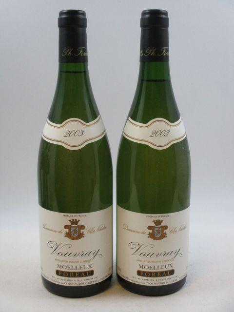 12 bouteilles VOUVRAY 2003 (moelleux) Domaine du Clos Naudin