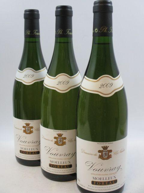 9 bouteilles VOUVRAY 2009 (moelleux) Domaine du Clos Naudin