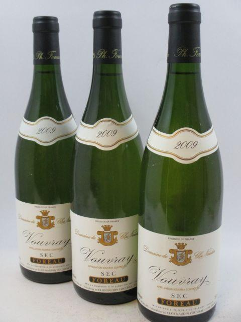 12 bouteilles VOUVRAY 2009 (sec) Domaine du Clos Naudin