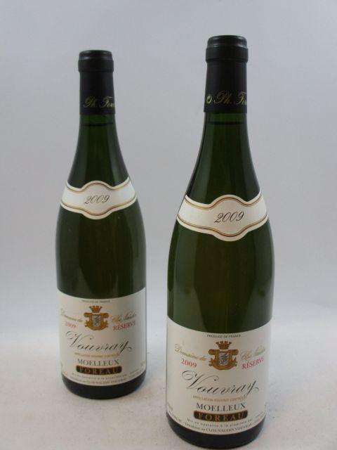 12 bouteilles VOUVRAY 2009 (moelleux) Réserve
