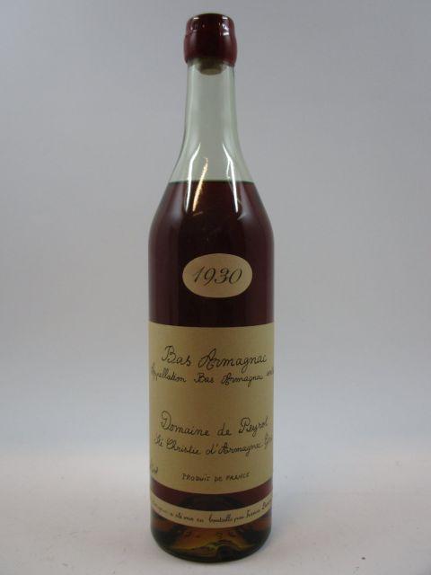 1 bouteille BAS ARMAGNAC CHÂTEAU DE PEYROT 1930 Darroze (Elevé et mis en bouteille par Francis Darroze en septembre 1994) (46