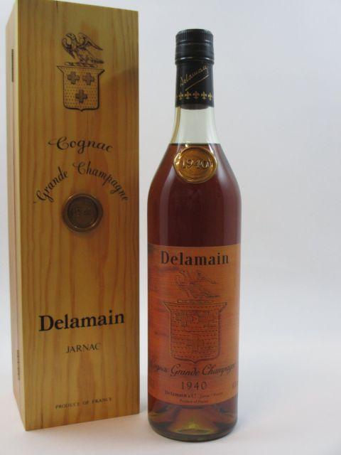 1 bouteille COGNAC DELAMAIN 1940 Grande Champagne Caisse bois d'origine (70 cl