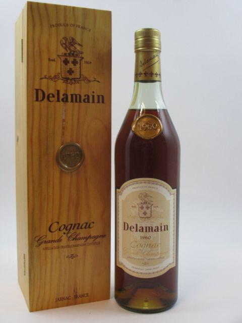 1 bouteille COGNAC DELAMAIN 1960 Grande Champagne Caisse bois d'origine (70 cl