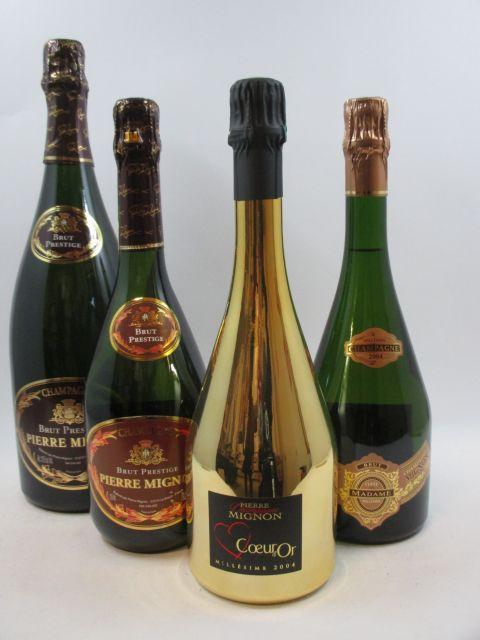 9 flacons 6 bts : CHAMPAGNE PIERRE MIGNON Cuvée Brut Prestige