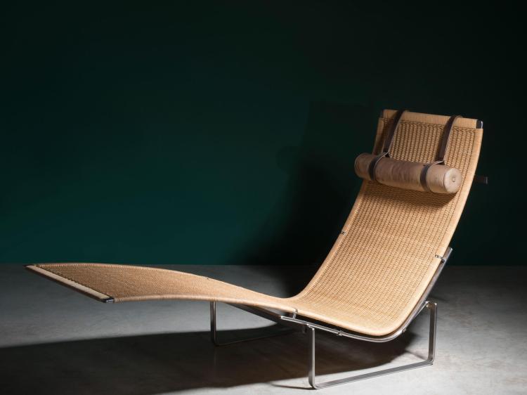 Poul kjaerholm 1929 1980 chaise longue mod pk24 1965 stru - Chaise longue en cuir design ...