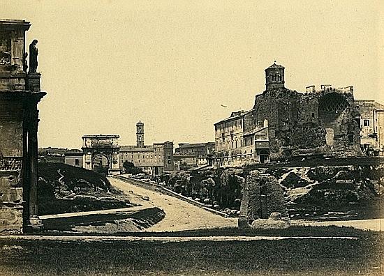 Tommaso CUCCIONI (1790-1864) Trois vues de Rome, 1860 Trois tirages sur papier albuminé montés sur carton