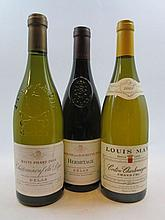 3 bouteilles 1 bt : CORTON CHARLEMAGNE 2001 Grand Cru. Louis Max