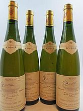 4 bouteilles ALSACE - TOKAY PINOT GRIS 1989 VT Clos Windsbuhl