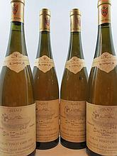 4 bouteilles ALSACE - TOKAY PINOT GRIS 1991 VT Clos Windsbuhl