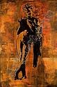 BLEK LE RAT (né en 1951 -) THE FAWN, 1993 Pochoir et pastel sur papier marouflé sur toil...,  Blek Le Rat, Click for value