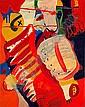 Bernard RANCILLAC (né en 1931) MONSIEUR CHIEN ET MADAME CHAT, 1964 Huile sur toile,  Serge, Click for value