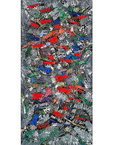 Oscar GAUTHIER (né en 1921) COMPOSITION, 1954 Huile sur toile