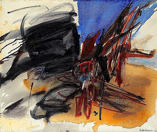 Huguette ARTHUR BERTRAND (née en 1922) NOIR VOLANT,1964 Huile sur toile