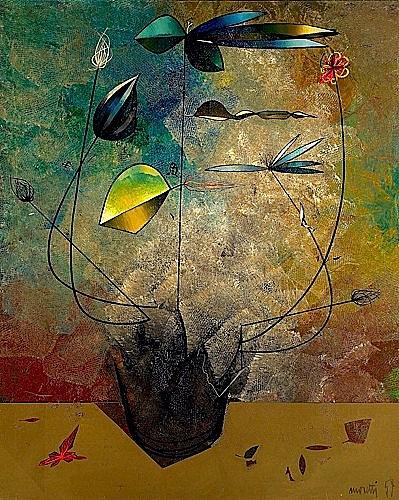 Raymond MORETTI (1931-2005) FLEURS, 1958-1959 Huile sur toile
