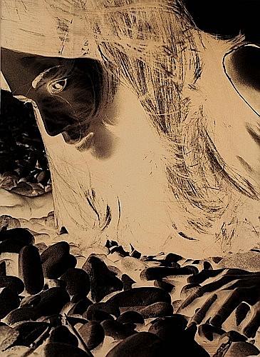 Jean-Pierre KHAZEM (né en 1968) OMAHA BEACH 3, 1998 Tirage photographique noir et blanc