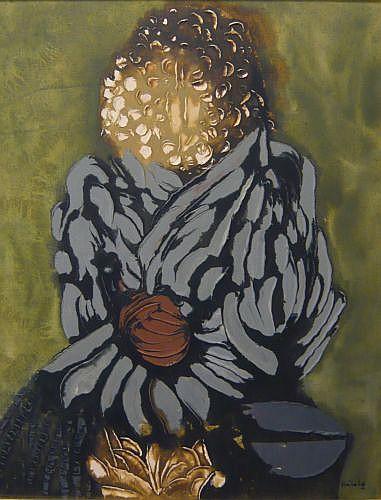 Jacques HEROLD (1910-1987) PERSONNAGE ANCIEN Huile sur toile