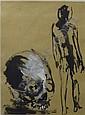 Nino LONGOBARDI (né en 1953) SANS TITRE, CIRCA 1983-1984 Un lot de 5 oeuvres sur papier :, Nino Longobardi, Click for value