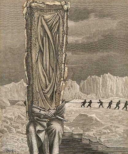 Max BUCAILLE (né en 1906) LES JEUX DANS LE PAYSAGE DE GLACE, 1938 Collage sur papier