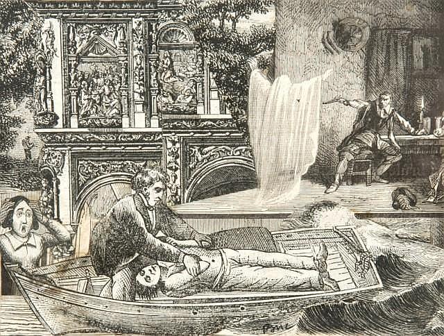 Max BUCAILLE (né en 1906) LE DOUBLE MEURTRE, 1932 Collage sur papier