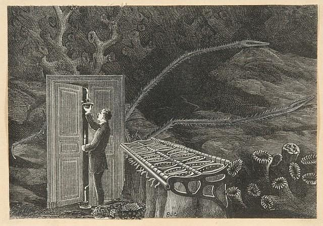 Max BUCAILLE (né en 1906) LA PORTE SOUS LA MER, 1939 Collage sur papier