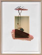 ¤ Fabrice HYBERT (Né en 1961) SANS TITRE (SERIE HYBERT'S DIGEST) - 1996 Photographie couleur, aquarelle et fusain sur papier