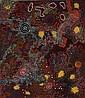 ¤Nungurrayi Gabriella POSSUM (Luritja / Anmatyerre ) (Born 1967) GRANDMOTHER'S COUNTRY, 2007 Acrylic on pre-primed line, Nungurrayi Gabriella  Possum, Click for value
