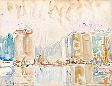Paul SIGNAC 1863 - 1935 MARSEILLE - 1907 Aquarelle et crayon sur papier