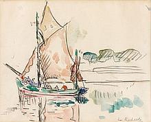 Paul SIGNAC 1863 - 1935 LA ROCHELLE Aquarelle et crayon sur papier