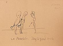 Pablo PICASSO 1881 - 1973 LA PRESENTATION DANS LE GRAND MONDE - 1905 Encre sur papier