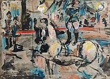 Georges ROUAULT 1871 - 1958 LE VOLTIGEUR (SCENE DE CIRQUE) - 1905 Aquarelle et gouache sur papier