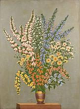 André BAUCHANT 1873 - 1958 BOUQUET DE DIGITALES - 1929 Huile sur toile