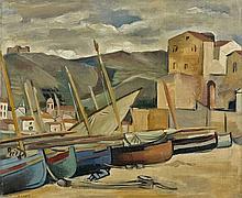 André LHOTE 1885 - 1962 COLLIOURE, UN JOUR D'ORAGE - 1925 Huile sur toile